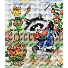 Vyšívací sada - Mýval - zahradník