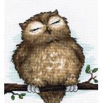 Vyšívací sada - Spící sova