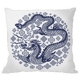 Předloha - Polštář - Čínský porcelán III