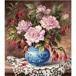Vyšívací sada - Růže a fuchsie