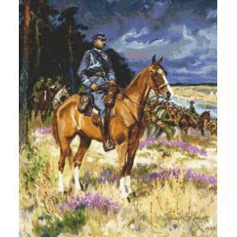 Předtištěná aida - Voják na koni