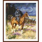 Předtištěná kanava - Voják na koni