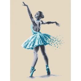 Vyšívací sada s mulinkou a podiskem - Baletka - Smyslná krása