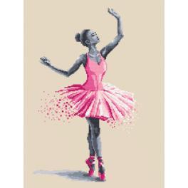 Vyšívací sada s mulinkou a podiskem - Baletka - Lehkost a elegance