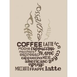 Vyšívací sada - Cup of coffee