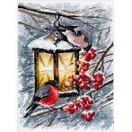 Vyšívací sada - Vánoční světlo