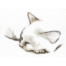 Vyšívací sada - Spící koťátko