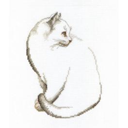 Vyšívací sada - Šedé koťátko