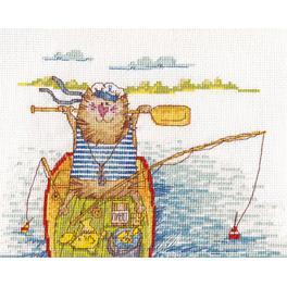 Vyšívací sada - Rybářský úlovek