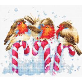 Vyšívací sada - Vánoční ptáčci