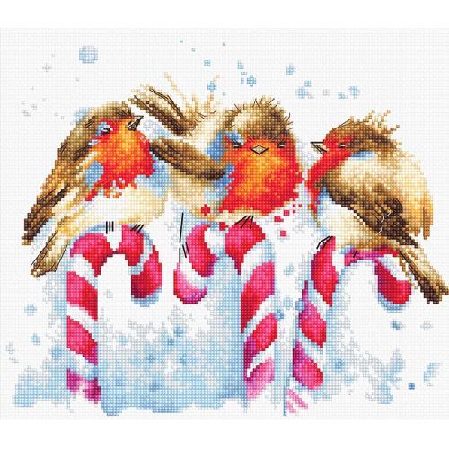 LS B1154 Vyšívací sada - Vánoční ptáčci