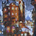 NPE 3331 Vyšívací sada - Město v noci