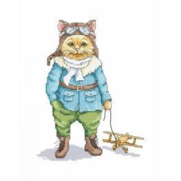 Vyšívací sada - Kočka - pilot