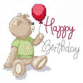 Vyšívací sada - Happy birthday