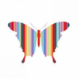 Vyšívací sada - Duhový motýl