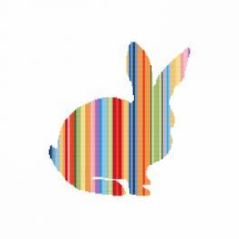 Vyšívací sada - Duhový králík