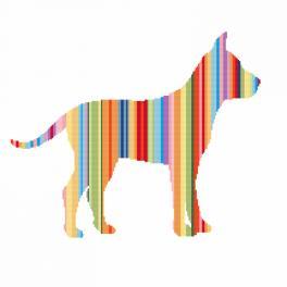 Vyšívací sada - Duhový pes