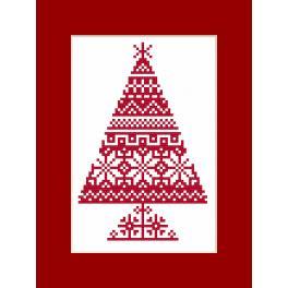 Předloha on line - Karta - Tradiční vánoční stromeček