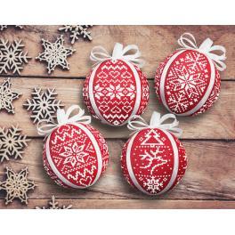 Vyšívací sada - Skandinávské vánoční koule