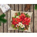 Předloha - Polštář - Kouzlo vánoční červeně