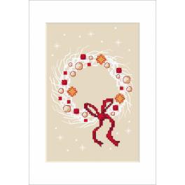 Vyšívací sada - Vánoční přání - Věnec