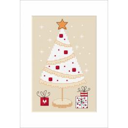 Vyšívací sada - Vánoční přání - Vánoční strom