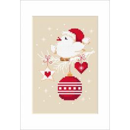 Vyšívací sada - Vánoční přání - Pták