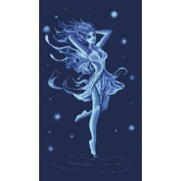 Vyšívací sada - Baletka - Modrá víla