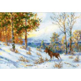 Vyšívací sada - Los v zimním lese podle V. L. Muranova