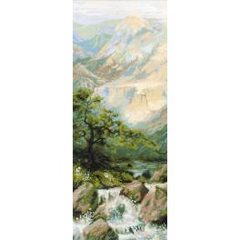 Sad s akrylovou příze - Horský potok