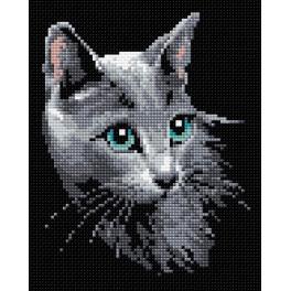 Diamond painting sada - Ruská kočka