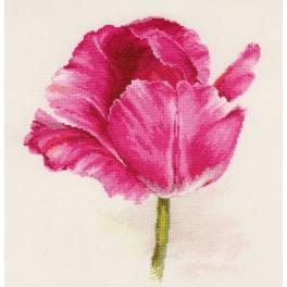 Vyšívací sada - Tulipán - Purpurový lesk