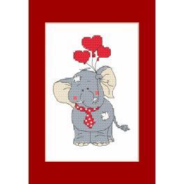 Vyšívací sada - Valentýnské přání - Slon