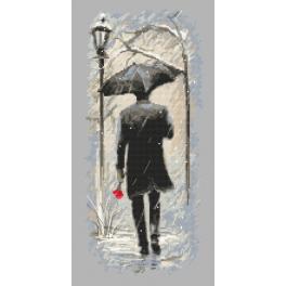 Předtištěná aida - Setkání v zimě
