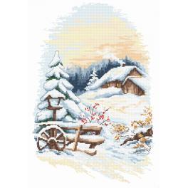 Vyšívací sada s mulinkou a podiskem - Kouzlo zimy