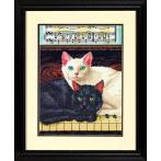 DIM 70-35269 Vyšívací sada - Černá a bílá kočka