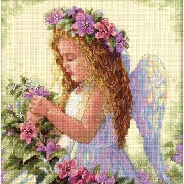 Vyšívací sada - Anděl mezi květy