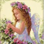 DIM 35229 Vyšívací sada - Anděl mezi květy