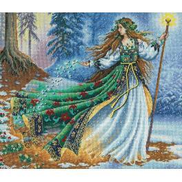 Vyšívací sada - Čarodějka z lesa
