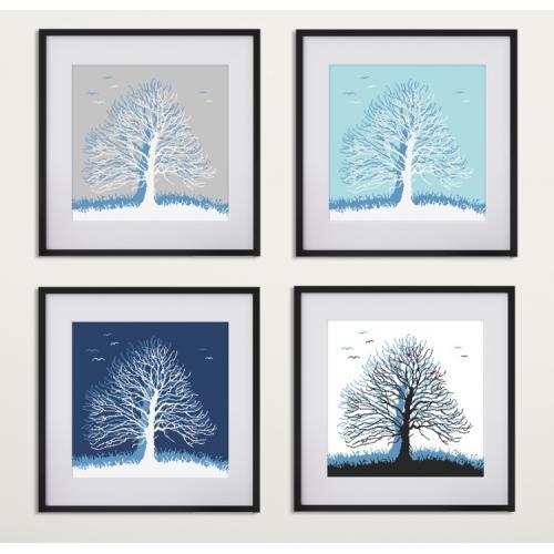 Vyšívací sada - Stromy snů