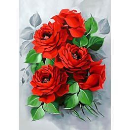 Diamond painting sada - Elegantní růže