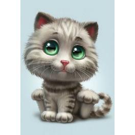 ZTDE 4669 Diamond painting sada - Zelenooké kotě