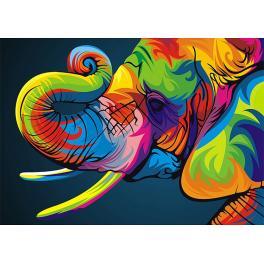 Diamond painting sada - Duhový slon
