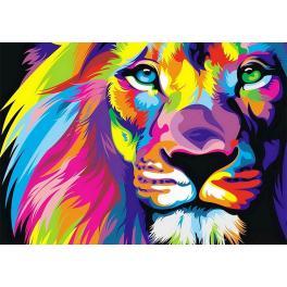 Diamond painting sada - Duhový lev