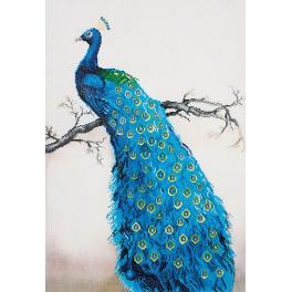 DD13.012 Diamond painting sada - Modrý páv