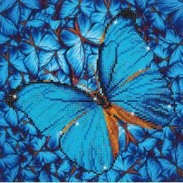 Diamond painting sada - Modrý motýl