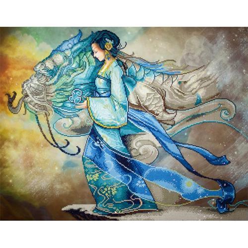 Diamond painting sada - Princezna a drak