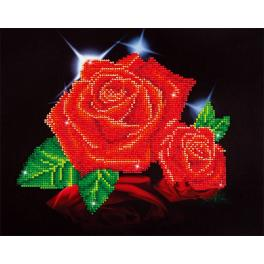 Diamond painting sada - Lesk červené růže