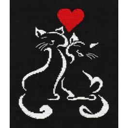 Vyšívací sada - Kočičí láska