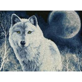 Vyšívací sada - Bílý vlk